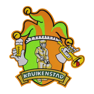 Strijkapplicatie Rugembleem logo Kruikenstad