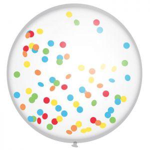 Mega Confetti Ballon mix kleuren