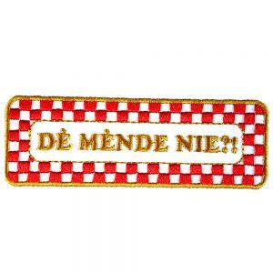 Strijkapplicatie Brabantse Uitspraken - Mende nie