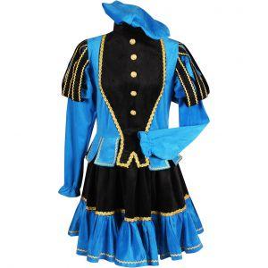 Pieten kostuum dame Murcia Zwart-Blauw