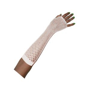 Net Handschoen Fluor Roze 25 cm.