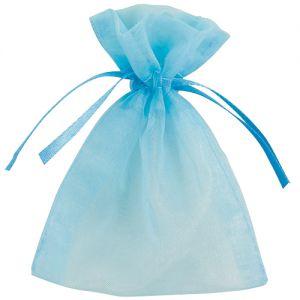 Organza uitdeelzakjes Baby blauw