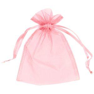 Organza uitdeelzakjes Baby roze