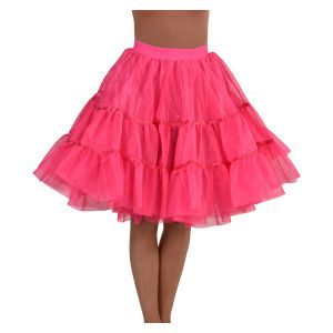 Petticoat middel lang fel roze
