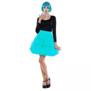 Petticoat middel lang turquoise
