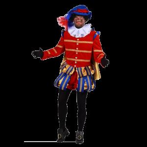 Pieten kostuum Fluweel Albufeira Rood-Blauw