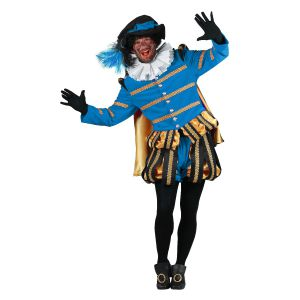 Pieten kostuum Fluweel Albufeira Zwart-Turquoise