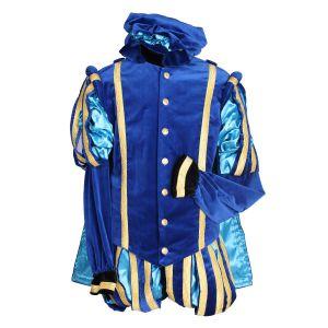 Pieten kostuum Fluweel Luxe Malaga Blauw-Turquoise