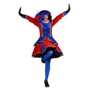 Pieten kostuum Madrid Rood-Blauw