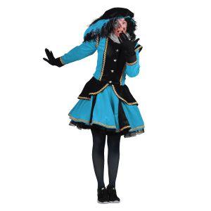 Pieten kostuum Madrid Zwart-Turquoise