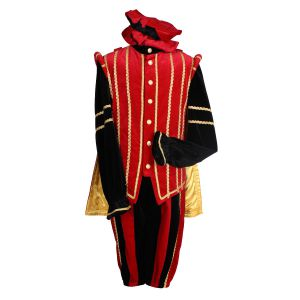 Pieten kostuum Marbella Zwart-Rood