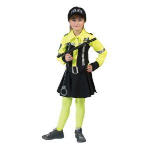 Politie jurkje zwart/fluor geel