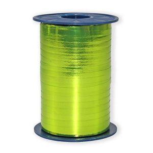 Ballonnen Polyband metallic lime groen 5 mm/400 meter