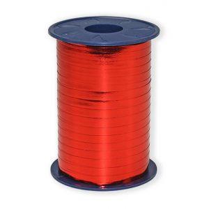 Ballonnen Polyband metallic rood 5 mm/400 meter