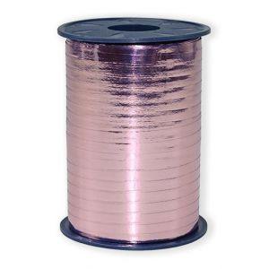 Ballonnen Polyband metallic roze 5 mm/400 meter