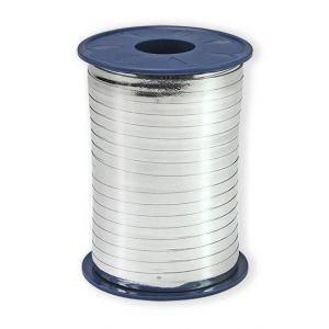 Ballonnen Polyband metallic zilver 5 mm/400 meter