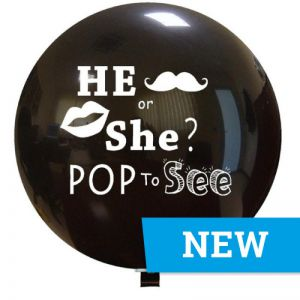 Reuze Ballon He or She Pop to See 150 cm.