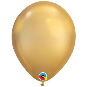 Qualatex Chrome Goud ballonnen (10 stuks)