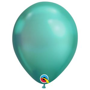 Qualatex Chrome Groen ballonnen (10 stuks)