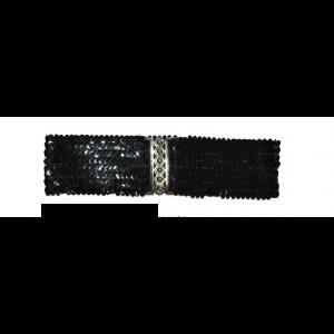 Riem Elastisch Pailletten Zwart