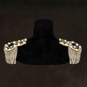 Schouder epaulette goud/zwart met led