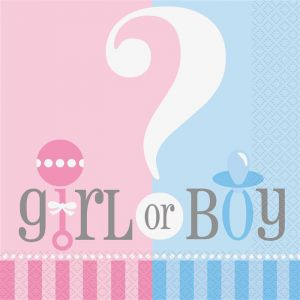Servetten Gender Reveal Girl or Boy