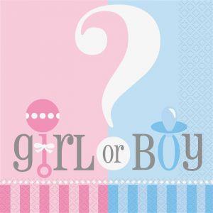 Servetten Gender Reveal Girl or Boy