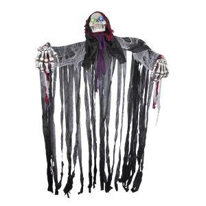 Halloween Skelet met licht en geluid 220 cm