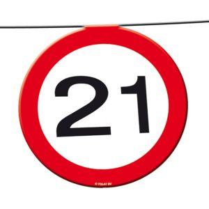 Slinger verkeersbord 21 jaar