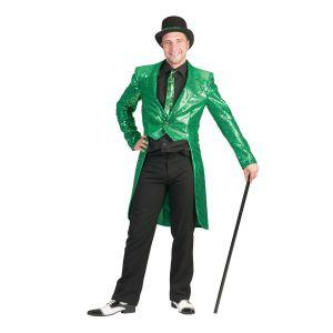 Heren slipjas Groen Glitter