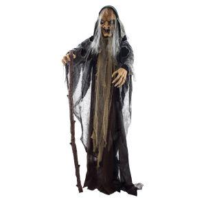 Halloween Heks met licht, geluid en beweging 150 cm
