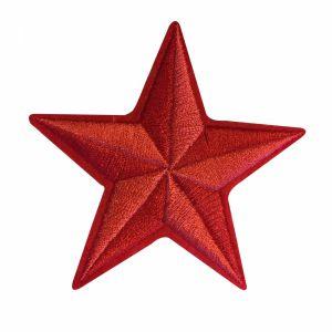 Strijkapplicatie rood sterretje