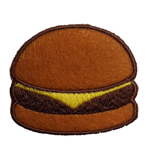 Strijkapplicatie Hamburger