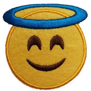 Strijkapplicatie Smiley Heilige