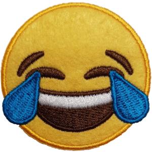Strijkapplicatie Smiley Lach Tranen