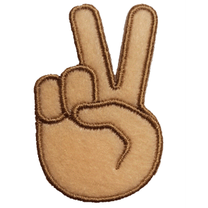Strijkapplicatie Emoji Peace