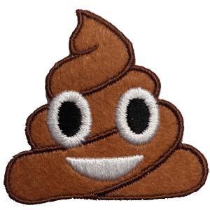 Strijkapplicatie Emoji Drol