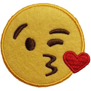 Strijkapplicatie Smiley Kusje