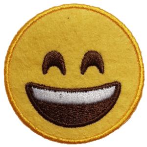 Strijkapplicatie Smiley Lach