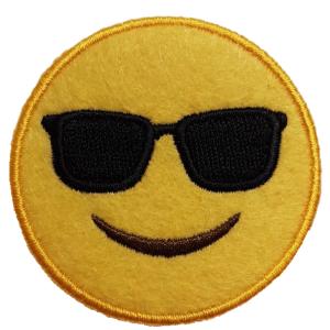Strijkapplicatie Smiley Zonnebril