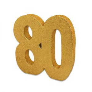 Tafeldecoratie 80 glitter goud