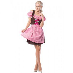 Tiroler Jurkje Anne roze/bruin