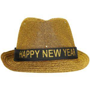 Hoed Happy New Year Zilver