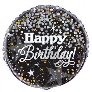 Folieballon Happy Birthday Glitters