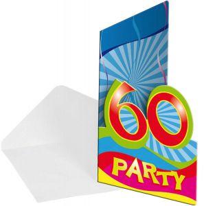 Uitnodigingen 60 jaar 8 stuks