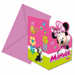 Uitnodigingen Minnie Mouse