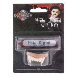Vampieren gebit met bloed
