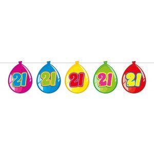Vlaggenlijn Balloonshape 21 jaar