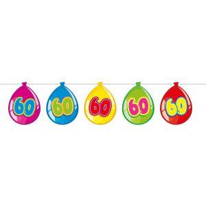 Vlaggenlijn Balloonshape 60 jaar