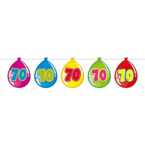 Vlaggenlijn Balloonshape 70 jaar